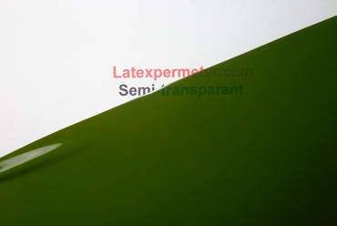 Latex Semi-transparent Verte, par mètre, 0.40mm, LPM