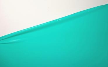 Latex per meter, Aqua-Green, 0.40mm. 1m breed, LPM
