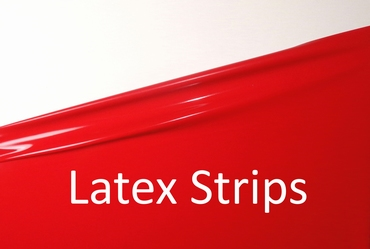 Latex stripes/trim, Chilli-Red LPM, 0,5cm, 10 mtr. tall.
