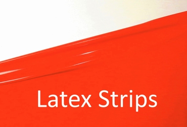 Latex strips, Flame-Scarlet LPM, 1cm breed, 10 meter.