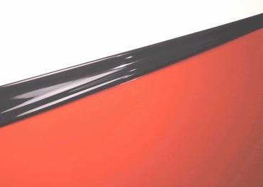 Latex Duo-Colore,per rotolo da 10m, Nero/Rosso pallido, 0.40