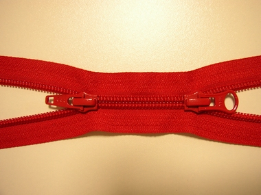 CoilZipper, double divisible, red, 40 cm.