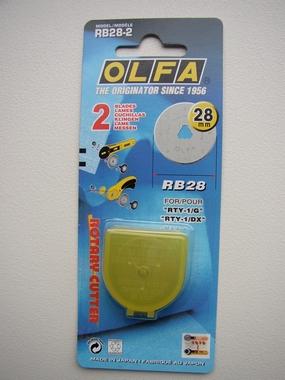 Reservemes/2 stuks, OLFA rolmes (28 mm)