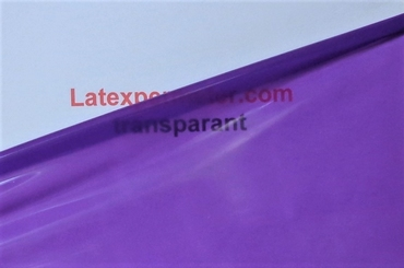 1/2 meter latex Transparant-Paars 0.40 mm, 1m breed, LPM
