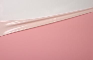 Látex Dual-Color, por rollo de 10m, Pink-Shell-White, 0.40mm