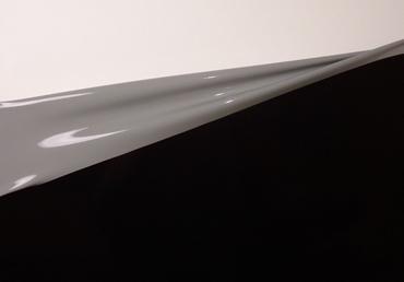 Latex dual-kleur, per meter, Zwart/Grijs 0.40mm, LPM