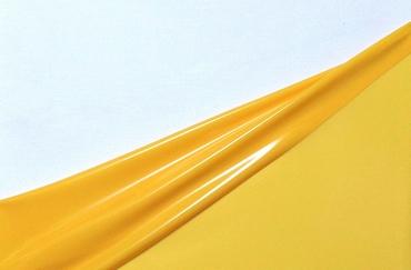 Latex dual-kleur, per meter, Mango/Banana 0.40mm, LPM