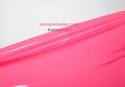 1/2 meter latex Transparent, Hotpink, 0.40 mm, 1m wide, LPM