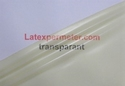 1/2 meter latex Transparant-Naturel 0.25 mm, 1m breed, LPM