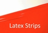 Latex stripes/trim,Flame-Scarlet LPM, 1cm wide, 10mtr. tall.