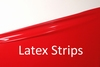 Latex stripes/trim, Chilli-Red LPM, 1cm, 10 mtr. tall.