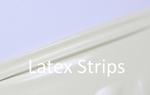 Latex stripes/trim, Chilli-Red LPM, 2cm, 10 mtr. tall.