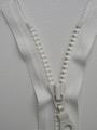 Zipper, White, 15 cm one way