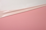 Latex dual-kleur,per meter, Mellowpink-Shellwhite,0.40mm,LPM