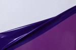 Latex dual-kleur,per meter, Space-blue/Aubergine 0.40mm, LPM