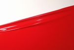 1/2 meter latex, Chilli red, 0.40 mm, 1m wide