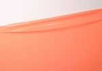 1/2 meter latex, Coral pink, 0.40 mm, 1m wide